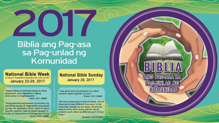 President Rodrigo Roa Duterte issues Proclaimation No. 124 declaring the month of January of every year as National Bible Month