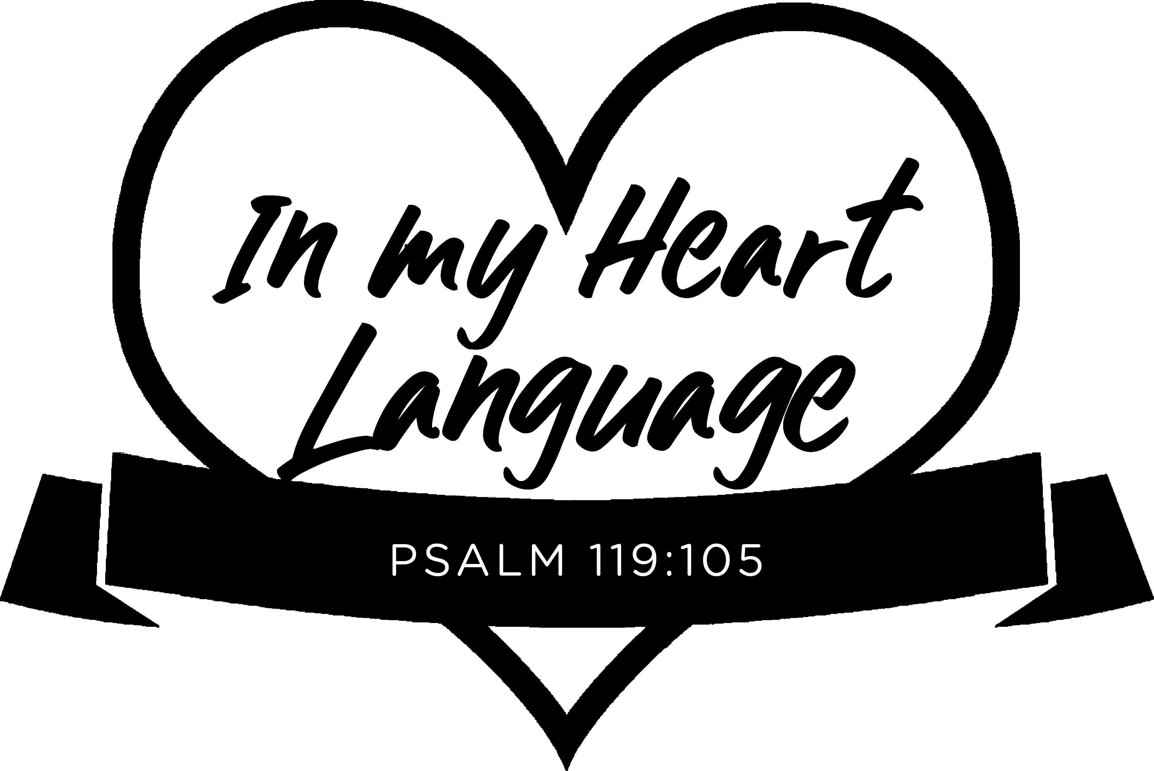 InMyHeartLanguage logo black - Psalm 119.105