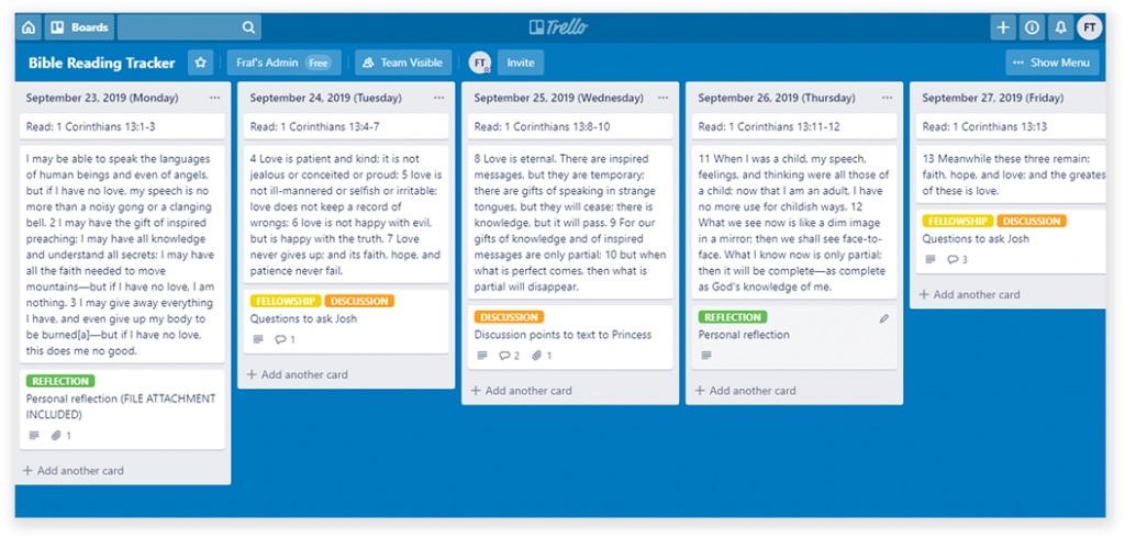 Tracking - TRELLO - Sample - DS