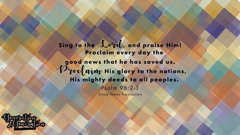 Desktop Wallpaper Psalm 96:2-3 v1