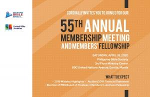 54th Annual Membership Meeting 1 - Philippine Bible Society