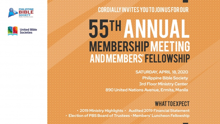55th Annual Membership Meeting
