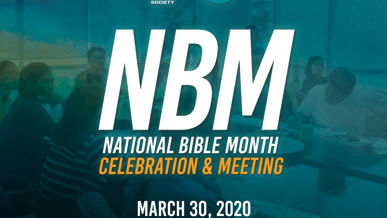 National Bible Month Celebration and Meeting