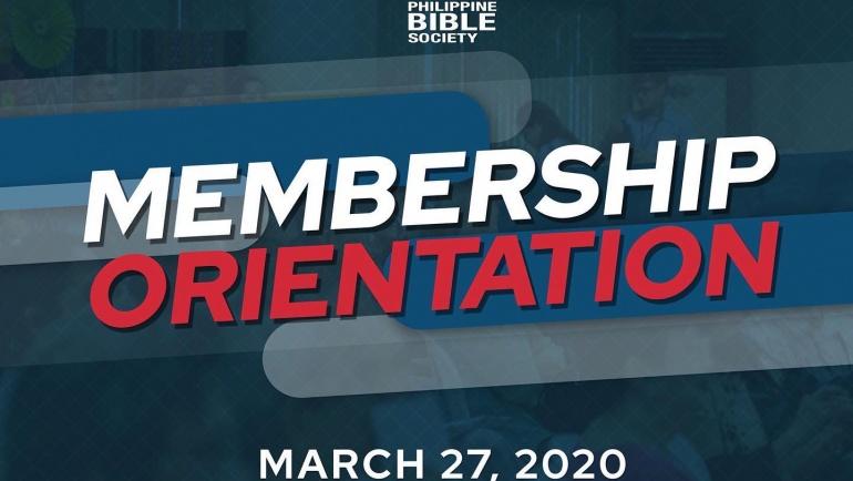 PBS' Membership Orientation