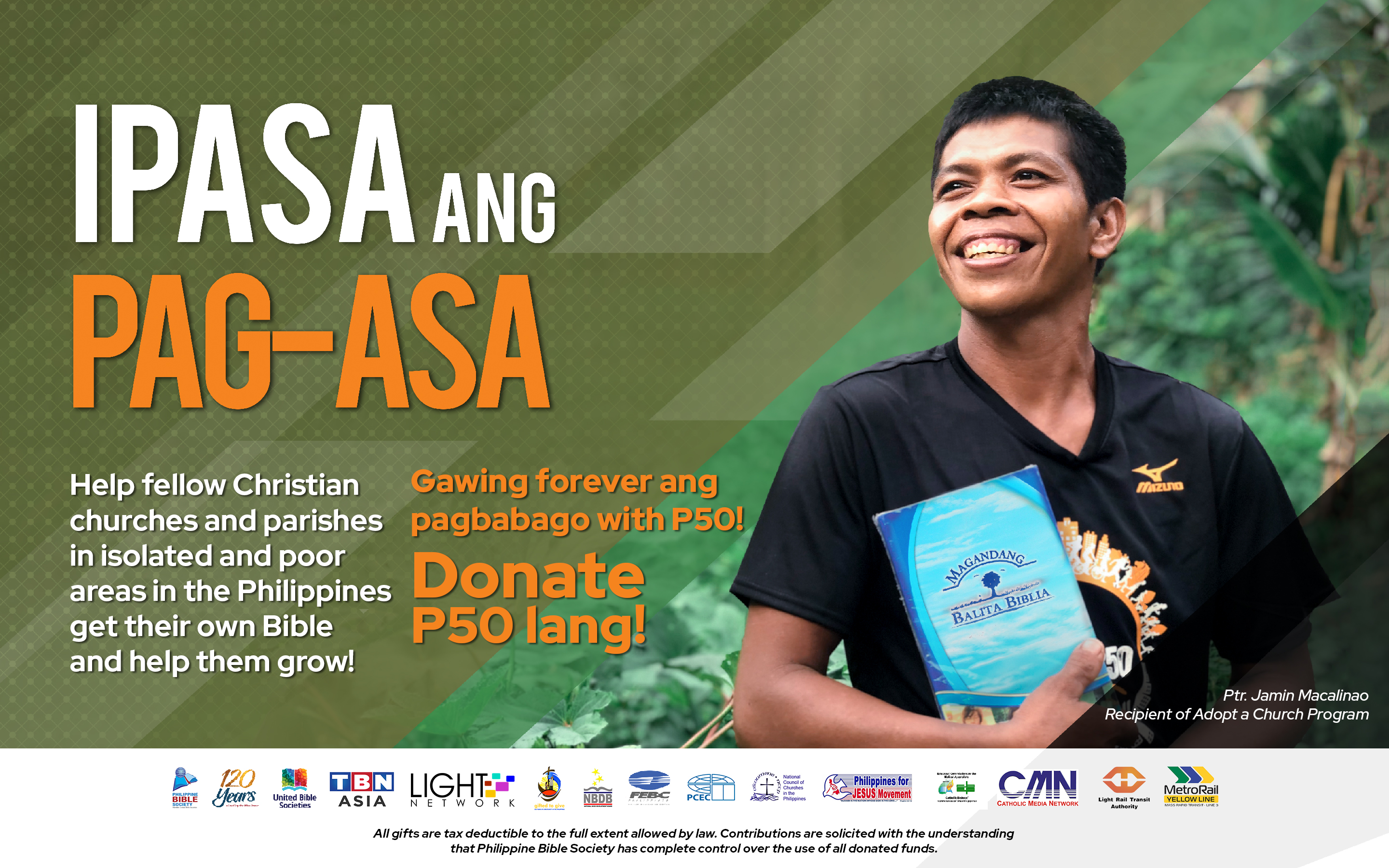 Crowdfunding Posterr - Philippine Bible Society