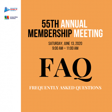 55th AMM FREQUENTLY ASKED QUESTIONS