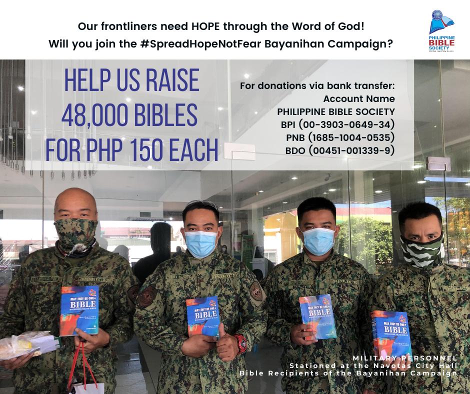 Frontliners Prayer Card B - Philippine Bible Society