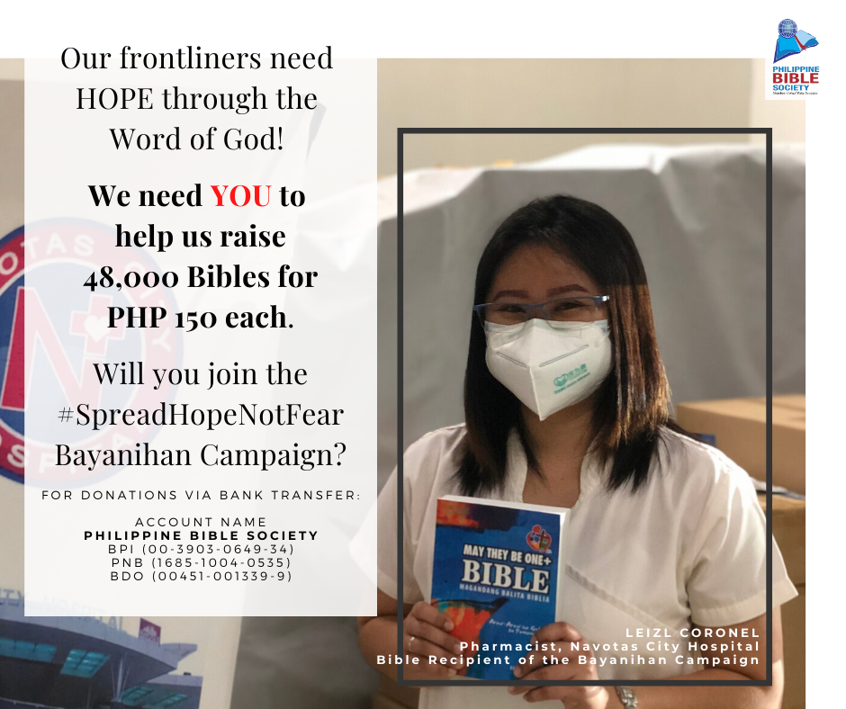 Frontliners Prayer Card C - Philippine Bible Society