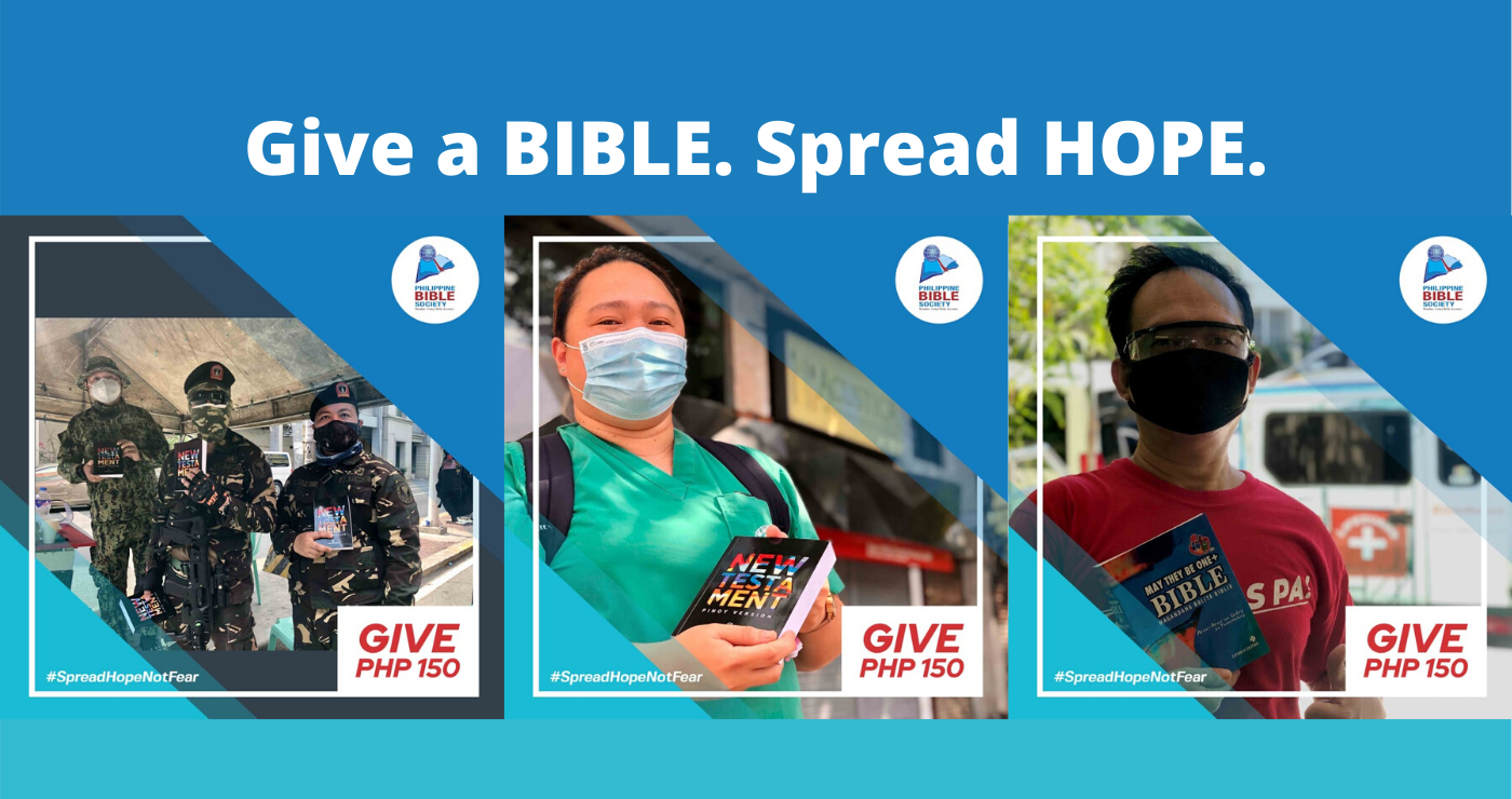 Give a BIBLE. Spread HOPE - Philippine Bible Society