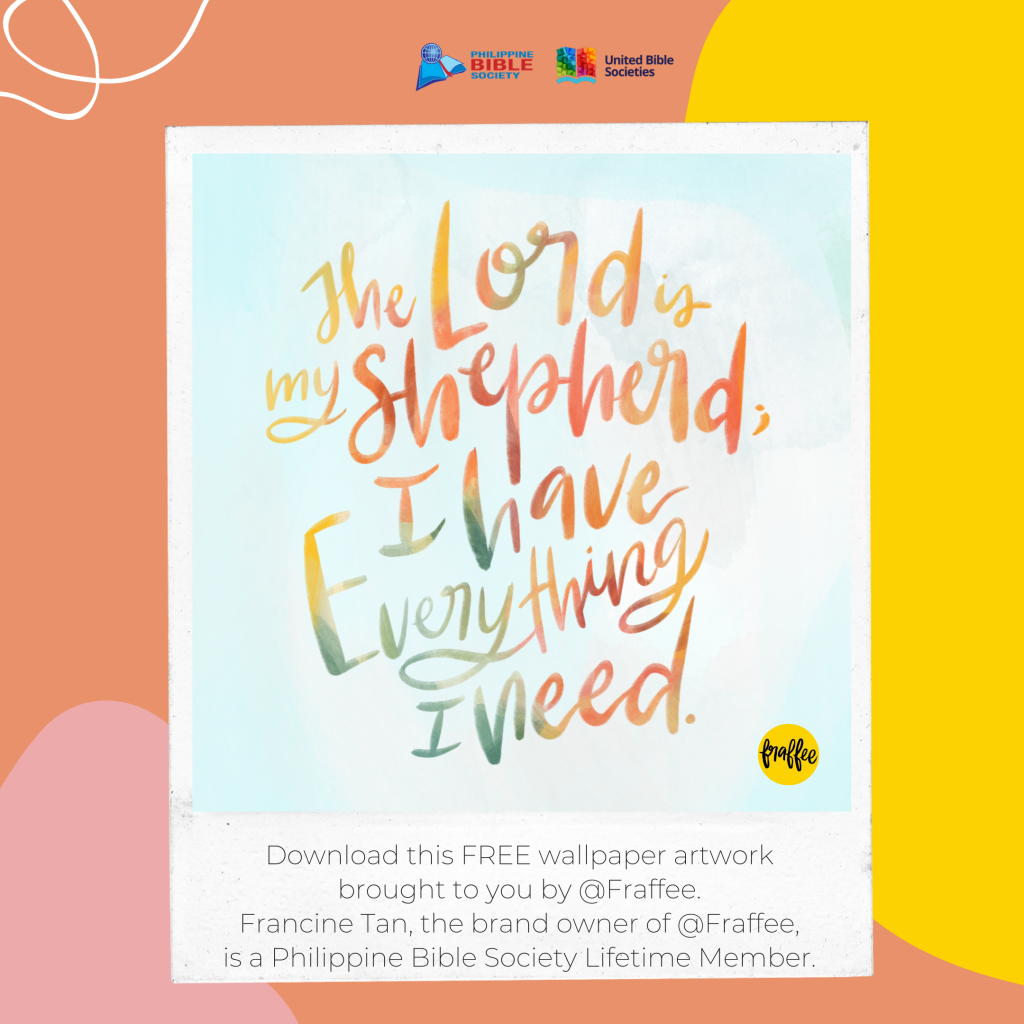calligraphy art from @Fraffee - Philippine Bible Society