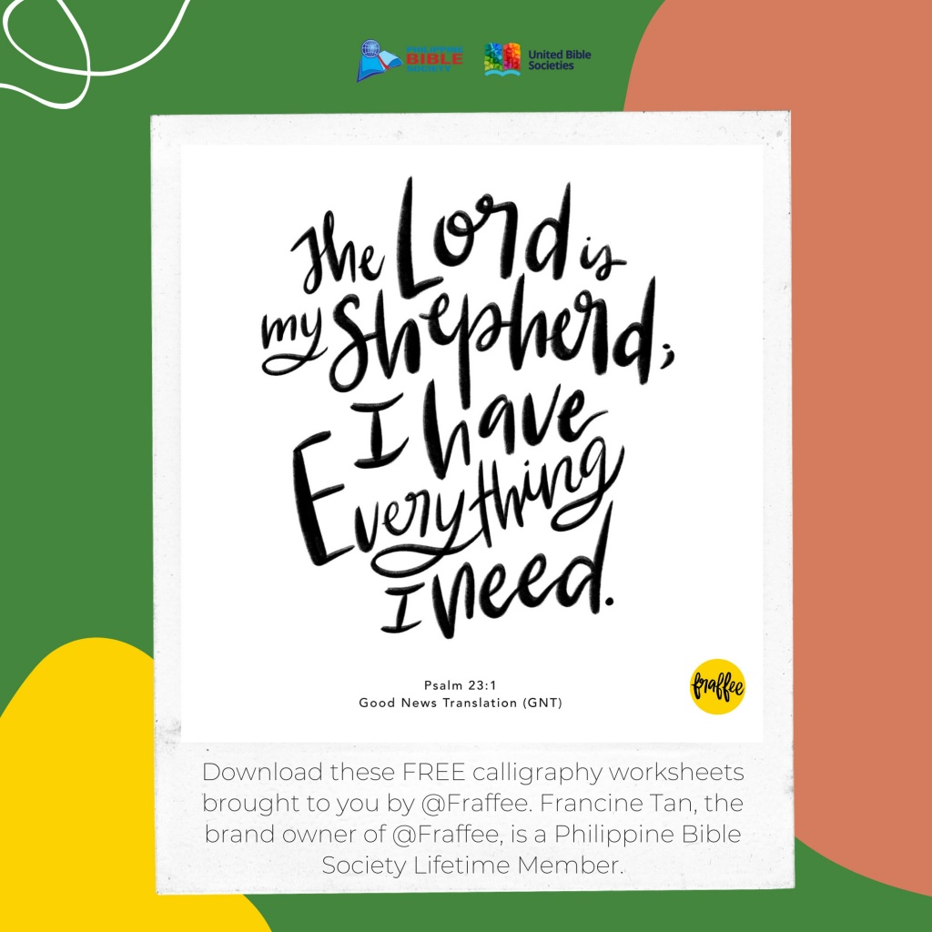 calligraphy art from @Fraffee copy - Philippine Bible Society
