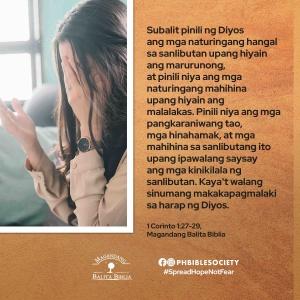1 cor 1.27 29 - Philippine Bible Society